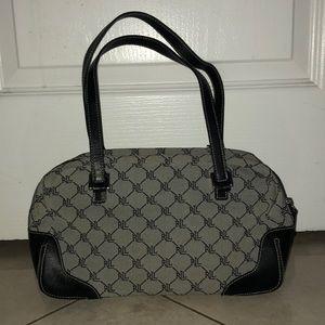 Ralph Lauren grey and black shoulder bag